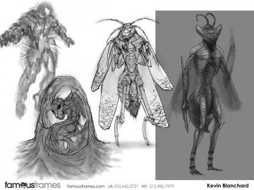 Kevin Blanchard's Characters / Creatures storyboard art