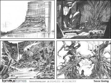 Trevor Goring*'s Environments storyboard art