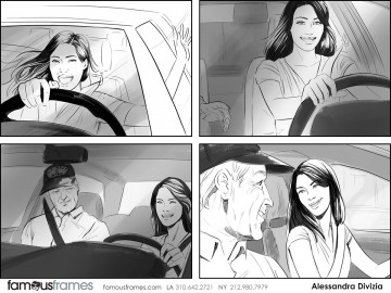 Alessandra Divizia's People - B&W Tone storyboard art