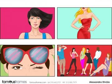 Alessandra Divizia's Beauty / Fashion storyboard art