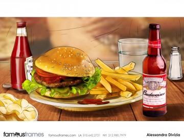 Alessandra Divizia's Food storyboard art