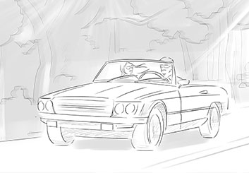 Alessandra Divizia's Vehicles storyboard art