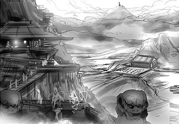 Charles Ratteray*'s Concept Environments storyboard art