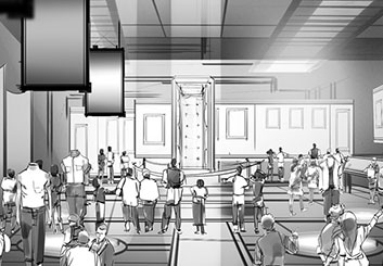 Charles Ratteray*'s Set Rendering  storyboard art