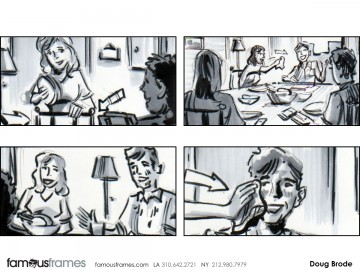 Doug Brode*'s People - B&W Tone storyboard art