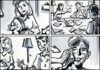 Doug Brode*'s People - B&W Tone storyboard art