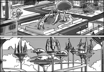 Chris Stiles's Concept Environments storyboard art