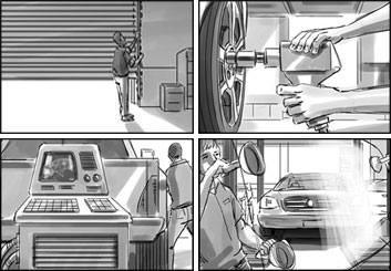 Chris Stiles's People - B&W Tone storyboard art
