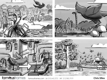 Chris Stiles's Environments storyboard art