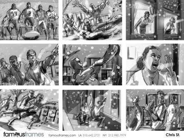 Chris Stiles's Sports storyboard art