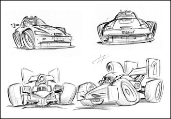 Chris Stiles's Vehicles storyboard art