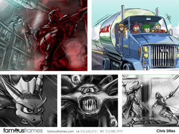Chris Stiles's Video Games storyboard art