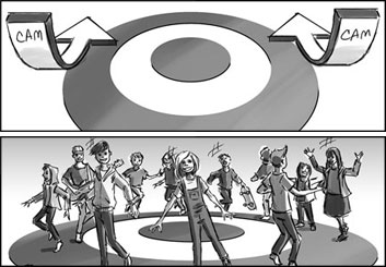 Chris Stiles's Set Rendering  storyboard art