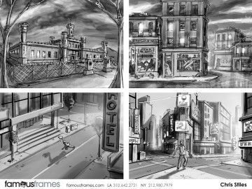 Chris Stiles's Architectural storyboard art