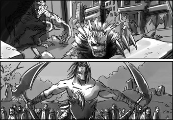 Chris Stiles's Action storyboard art