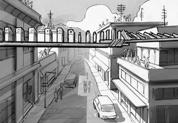 Chris Stiles's Architectural storyboard art