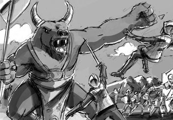 Chris Stiles's Characters / Creatures storyboard art