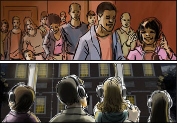 Chris Stiles's People - Color  storyboard art