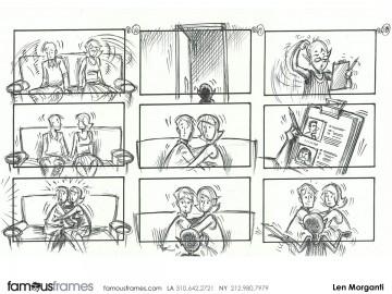 Len Morganti*'s Shooting Animation  storyboard art