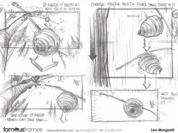 Len Morganti*'s Action storyboard art