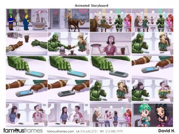 David Hudnut's Animation storyboard art