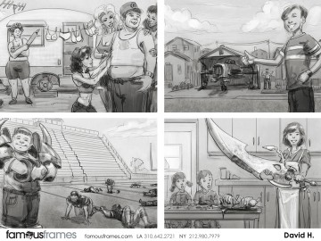 David Hudnut's People - B&W Tone storyboard art