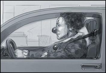 David Hudnut's People - B&W Tone storyboard art