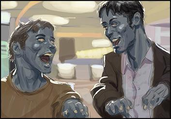 David Hudnut's People - Color  storyboard art