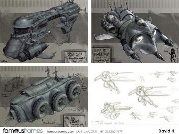 David Hudnut's Sci-Fi storyboard art