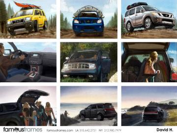 David Hudnut's Vehicles storyboard art