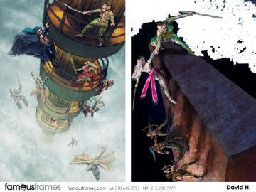 David Hudnut's Action storyboard art