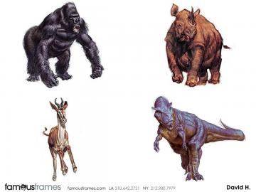 David Hudnut's Wildlife / Animals storyboard art