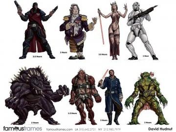 David Hudnut's Characters / Creatures storyboard art