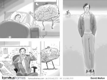 David Mellon's People - B&W Tone storyboard art