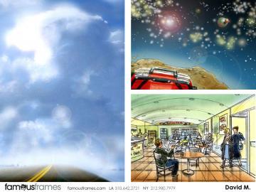 David Mellon's Environments storyboard art