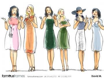 David Mellon's Beauty / Fashion storyboard art