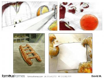 David Mellon's Food storyboard art