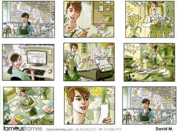 David Mellon's People - Color  storyboard art