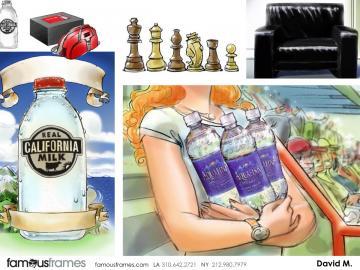 David Mellon's Products storyboard art