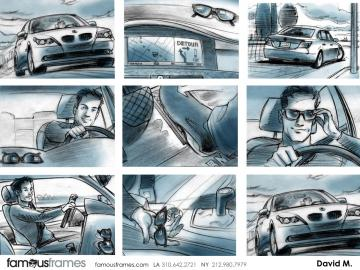 David Mellon's Vehicles storyboard art