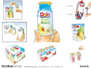 David Mellon's Packaging storyboard art