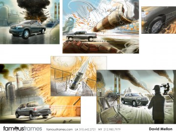 David Mellon's Action storyboard art