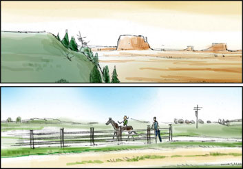 David Mellon's Environments storyboard art