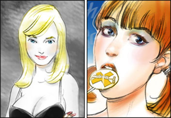 David Mellon's Beauty / Fashion storyboard art