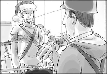 David Mellon's People - B&W Tone storyboard art