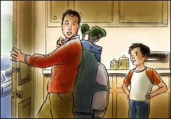 David Mellon's People - Color  storyboard art