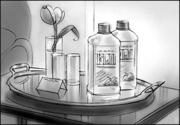 David Mellon's Products storyboard art
