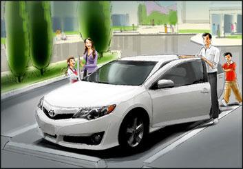 David Mellon's Vehicles storyboard art
