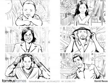 David Reuss's People - B&W Line storyboard art