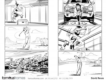 David Reuss's People - B&W Line storyboard art